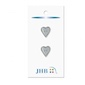 "Mini Heart Silver 5/8"" (16MM) -  3 Packages"