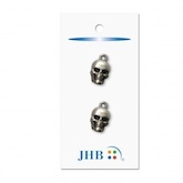 "Scary Skull Silver 3/4"" (19MM) -  3 Packages"