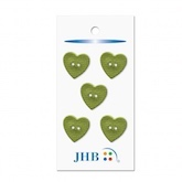 "Woven Heart Green 3/4"" (19MM) -  3 Packages"