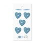 "Woven Heart Blue 3/4"" (19MM) -  3 Packages"
