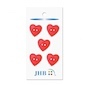 "Woven Heart Red 3/4"" (19MM) -  3 Packages"