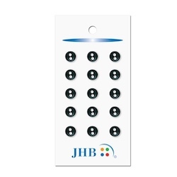"Petit Buttons Black 1/4"" (7MM) -  3 Packages"