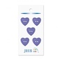 "Woven Heart Purple 3/4"" (19MM) -  3 Packages"