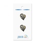 "Alpine Heart Silver 3/4"" (19MM) -  3 Packages"