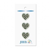 "Celtic Heart Silver 3/4"" (19MM) -  3 Packages"
