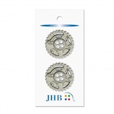 "Gears Silver 7/8"" (22MM) -  3 Packages"